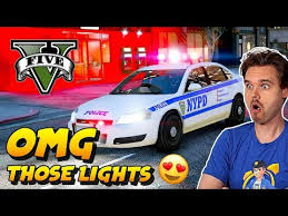 Gta 5 Lspdfr Nypd New York Police Has The Best Lightbar Gta V Realistic Police Patrol Mod Youtube
