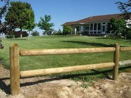 Round Gumpole Rail And Post Fence Garden Delineation Rustic Fence Wood Fence Post Post And Rail Fence