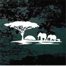 Elephant Car Decals Stickers Decal Junky