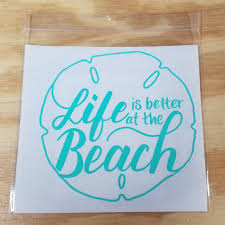 Life Is Better At The Beach Decal Ash Country Candles Designs Llc