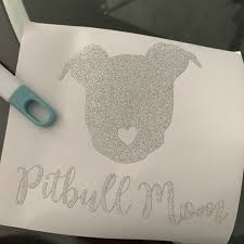 Other Pitbull Mom Glitter Sticker Decal For Car Window Poshmark