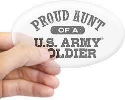 Amazon Com Cafepress Proud U S Army Aunt Oval Bumper Sticker Euro Oval Car Decal Home Kitchen