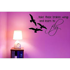 Vinyl Wall Decal Beatles Wall Decor Blackbird Take These Broken Wings And Learn To Fly Music Decal Sticker 20 X11 Bb3 Walmart Com Walmart Com