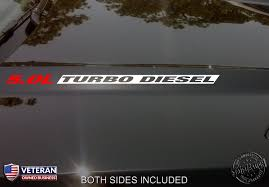 5 0l Turbo Diesel Hood Inv Vinyl Decals Stickers Fits Nissan Titan Hd Roe Graphics And Apparel