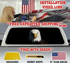 American Bald Eagle Pick Up Truck Rear Window Graphic Decal Perforated Vinyl Ebay