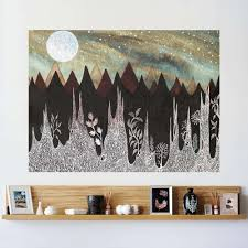 Aurora Borealis And The Ice Forest Wall Sticker Celestial Art By Eli