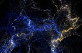 fractal texture blue yellow lightning