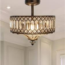 semi flush mount light with tiered
