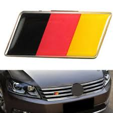 Car Germany Flag Grille Grill Emblem Badge Decal Sticker Fit For Bmw Audi Sturdy Ebay