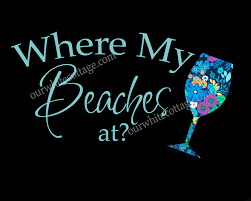 Where My Beaches Decal Beach Decal Wine Decal Lilly Inspired Iphone Decal Yeti Decal Tumbler Decal Car Window Decal Our White Cottage