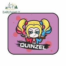 Earlfamily 13cm X 13cm Harley Quinn Funny Car Stickers For Honda Rv Van Quinzel Decals Vinyl Car Wrap Waterproof Auto Sticker Car Stickers Aliexpress