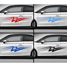 Custom Car Stickers Vinyl Graphic Side Stripe Decals Swooshes