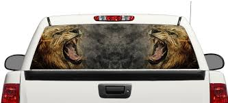 Product Lion Angry Wild Animal King Logo Rear Window Decal Sticker Pick Up Truck Suv Car 3