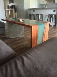 live edge river resin coffee table