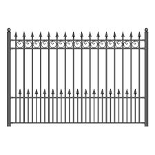 5 Ft H X 5 5 Ft W Prague Diy Unassembled Steel Fence Panel Steel Fence Panels Iron Fence Panels Garden Fence Panels