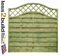 Arched Trellis Continental Fence Panel Omega 33 6ft Wide X 3ft 4ft 5ft 6ft H Ebay