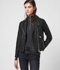 dalby leather biker jacket black