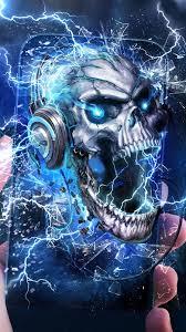 electric skull live wallpaper free