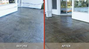 tips to re stamped concrete back