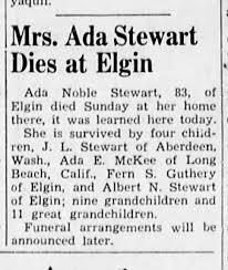 Ada Stewart obituary - Newspapers.com