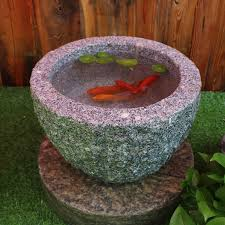 stone trough fish pond flower pot