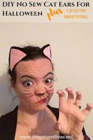 diy no sew cat ears for halloween plus