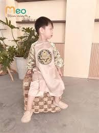 Áo dài bé trai - thêu rồng tinh xảo (size cho bé từ 1 - 5 tuổi ...