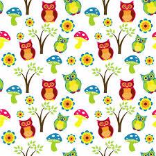 cute owl wallpaper pattern free stock