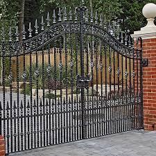 Vintage Estate Entrance Swing Wrought Iron Gates Design For Sale Iok 188 You Fine Sculpture