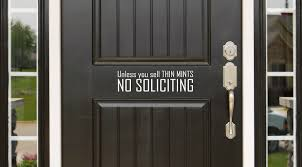 Unless You Sell Thin Mints No Soliciting Decal Set Mistically Made