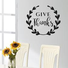 Thanksgiving Wall Decal Quotes Give Thanks Pattern Vinyl Wall Sticker For Kids Rooms Livingroom Home Decor Removable Mural Sy454 Sticker For Kids Room Vinyl Wall Stickerswall Stickers For Kids Aliexpress