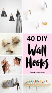 40 Decorative Wall Hooks That You Can Make Yourself Cool Crafts