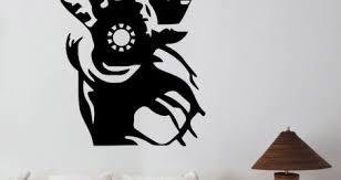 Iron Man Vinyl Decal For Car Giant Wall Art Gold Mask Window Decor Vamosrayos