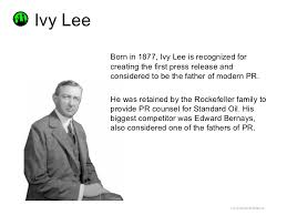 ul><li>Born in 1877, Ivy Lee