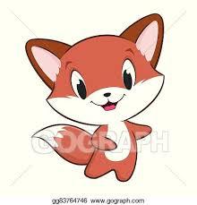 cartoon baby fox vector clipart