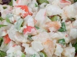 Imitation Crab Salad with Mayonnaise ...