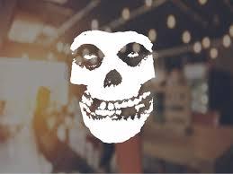 The Crimson Ghost Skull Vinyl Decal Misfits Sticker Car Wall Etsy