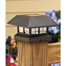 Veranda Post Cap Solar Powered Black Plastic Common 4 In X 4 In Actual 3 63 In X 3 63 In 2211 F Outdoor Solar Lights Solar Deck Lights Solar Post Caps