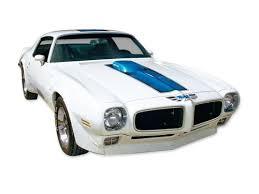 1970 1972 Trans Am Stripe Decal Kit Blue Stripes For A White Car