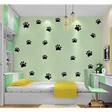 Amazon Com Dog Cat Paw Print Wall Sticker Vinyl Wall Sticker Decoration Decor For Room Kids Room Decal Sticker Kitchen Dining