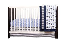 bacati elephants blue grey 10 pc crib