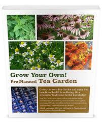 grow your own pre planned tea garden