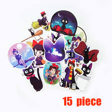 15pcs Kiki S Delivery Service Ghibli Jiji Waterproof Stickers For Personal Laptop Car Helmet Skateboard Luggage Graffiti Decals Buy At The Price Of 2 49 In Aliexpress Com Imall Com