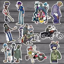 10pcs Blur Band Gorillaz Cool Sticker Decal Kids Toys Car On Laptop Bicycle Suitcase Notebook Skateboard Waterproof Stickers