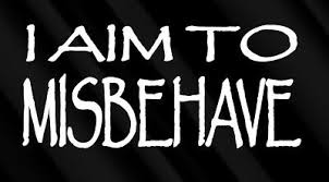 I Aim To Misbehave White Decal Sticker Firefly Serenity Quote For Suv Truck Car Ebay