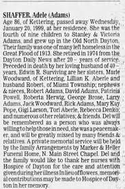 Adele Adams Shaffer obit - Newspapers.com