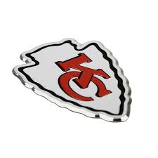 Kansas City Chiefs Aluminum Team Emblem Sunburst Reflections