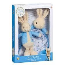peter rabbit rattle comfort blanket