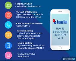 how to block andhra bank atm card by