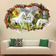 Wall Stickers Home Wall Decor Unicorn Sticker For Kids Rooms Bedroom Decoration Diy Scenery Poster Mural Wallpaper Wall Decals Girl Wall Stickers Girls Bedroom Wall Stickers From Topboom 1 58 Dhgate Com